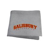 Grey Sweatshirt Blanket-Arched Salisbury University