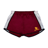 Ladies Maroon/White Team Short-SU Sea Gulls