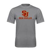 Performance Grey Concrete Tee-SU Sea Gulls