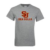 Grey T Shirt-SU Sea Gulls