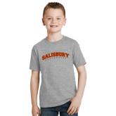 Youth Grey T-Shirt-Arched Salisbury University