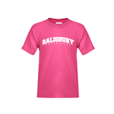 Youth Cyber Pink T Shirt-Arched Salisbury University