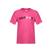 Youth Cyber Pink T Shirt-Arched Salisbury University Foil