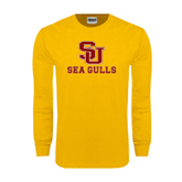 Gold Long Sleeve T Shirt-SU Sea Gulls