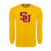 Gold Long Sleeve T Shirt-SU