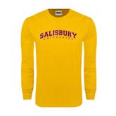 Gold Long Sleeve T Shirt-Arched Salisbury University