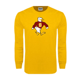 Gold Long Sleeve T Shirt-Sammy the Sea Gull
