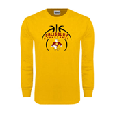 Gold Long Sleeve T Shirt-Graphics in Basketball
