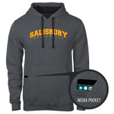 Contemporary Sofspun Charcoal Heather Hoodie-Arched Salisbury University
