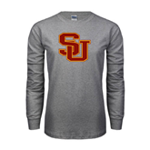 Grey Long Sleeve T Shirt-SU