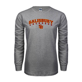 Grey Long Sleeve T Shirt-Lacrosse