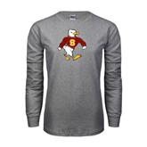 Grey Long Sleeve T Shirt-Sammy the Sea Gull