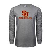 Grey Long Sleeve T Shirt-SU Sea Gulls