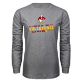 Grey Long Sleeve T Shirt-Can You Dig It