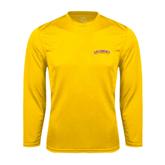 Performance Gold Longsleeve Shirt-Arched Salisbury University