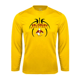 Performance Gold Longsleeve Shirt-Graphics in Basketball