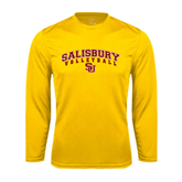 Performance Gold Longsleeve Shirt-Volleyball