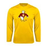 Performance Gold Longsleeve Shirt-Sammy the Sea Gull