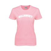 Ladies Pink T Shirt-Arched Salisbury University