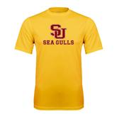 Performance Gold Tee-SU Sea Gulls