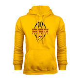 Gold Fleece Hoodie-Tall Football Design