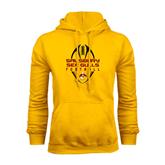 Gold Fleece Hoodie-Tall Football Design