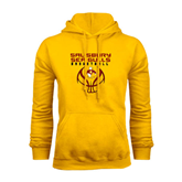 Gold Fleece Hoodie-Graphics on Basketball