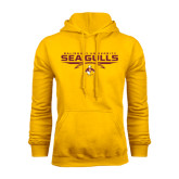 Gold Fleece Hoodie-Sea Gulls Football Flat