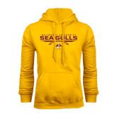 Gold Fleece Hoodie-Sea Gulls Football Flat