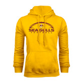 Gold Fleece Hoodie-Sea Gulls Football Horizontal w/ Ball