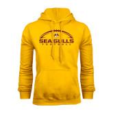 Gold Fleece Hoodie-Sea Gulls Football Horizontal w/ Ball