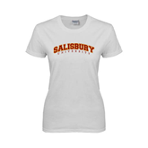 Ladies White T Shirt-Arched Salisbury University
