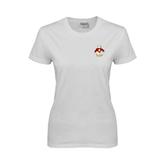 Ladies White T Shirt-Sammy the Sea Gull