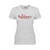 Ladies White T Shirt-Salisbury University