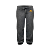 ENZA Ladies Dark Heather Banded Fleece Capri-SU Sea Gulls