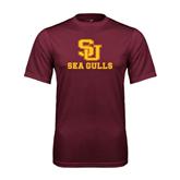 Performance Maroon Tee-SU Sea Gulls