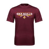 Performance Maroon Tee-Sea Gulls Football Flat