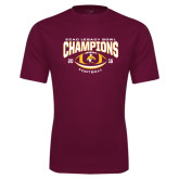 Performance Maroon Tee-ECAC Legacy Bowl Champions Football 2016