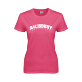 Ladies Fuchsia T Shirt-Arched Salisbury University