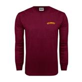 Maroon Long Sleeve T Shirt-Arched Salisbury University