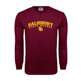 Maroon Long Sleeve T Shirt-Field Hockey