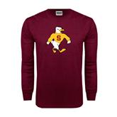 Maroon Long Sleeve T Shirt-Sammy the Sea Gull