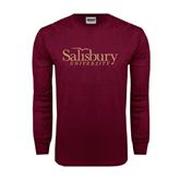 Maroon Long Sleeve T Shirt-Salisbury University