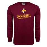 Maroon Long Sleeve T Shirt-Can You Dig It