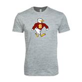Next Level SoftStyle Heather Grey T Shirt-Sammy the Sea Gull
