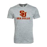 Next Level SoftStyle Heather Grey T Shirt-SU Sea Gulls