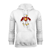 White Fleece Hoodie-Sammy the Sea Gull