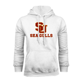 White Fleece Hoodie-SU Sea Gulls