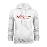 White Fleece Hoodie-Salisbury University