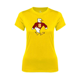 Ladies Syntrel Performance Gold Tee-Sammy the Sea Gull